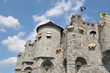 canvas print picture - Medieval Castle in historical center of Ghent city