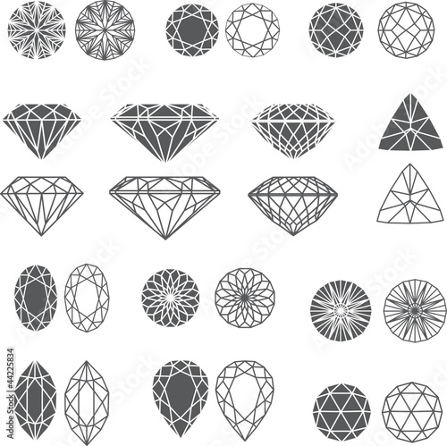 diamond design elements - cutting samples #44225834