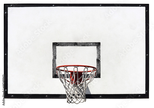 Photo Basketball backboard on the school basketball court isolated on white background