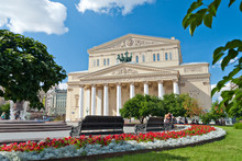 The Bolshoi Theatre In Moscow,...