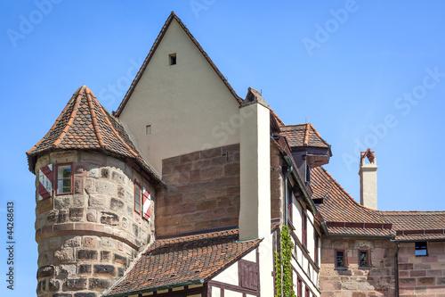 Poster Artistiek mon. Castle of Nuremberg Bavaria Germany