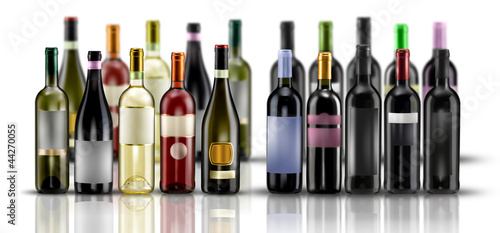 In de dag Wijn bottiglie di vino