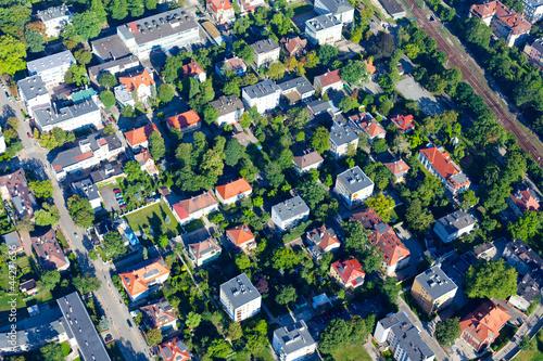 aerial view of city suburbs © mariusz szczygieł