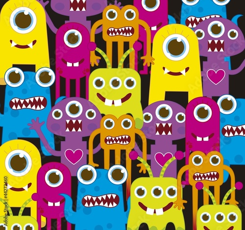 Foto op Aluminium Schepselen colorful monsters