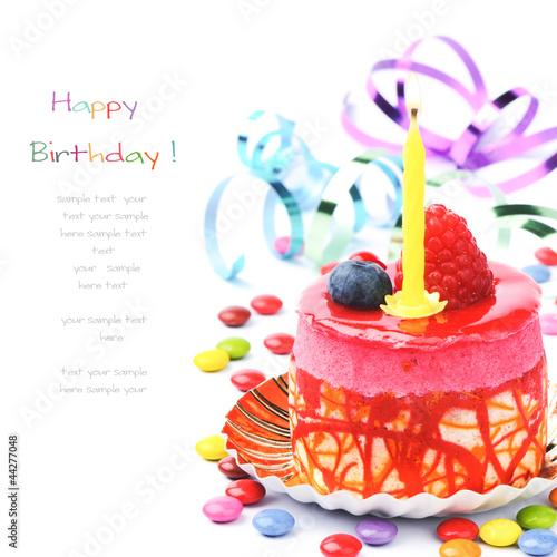 Fotografía  Colorful birthday cake