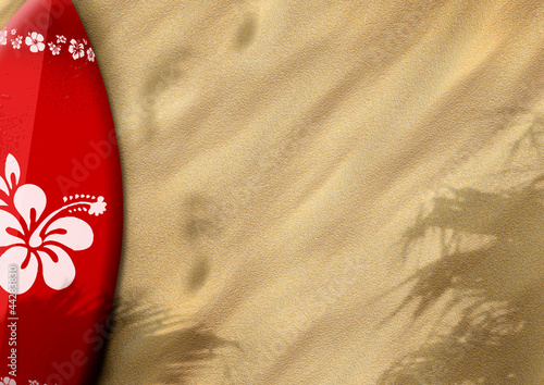 surfboards on sand #44283830