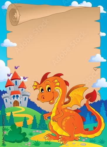 Printed kitchen splashbacks Castle Fairy tale theme parchment 3