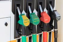 Zapfsäulen An Der Tankstelle