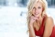 Leinwanddruck Bild - Beautiful blonde woman portrait