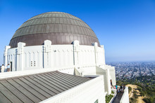 Observatory In Griffith Park In Los Angeles