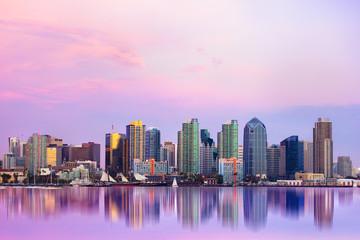 fototapeta piękny San Diego  o zachodzie słońca