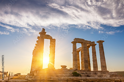 Poster Athens Ruins of Poseidon temple