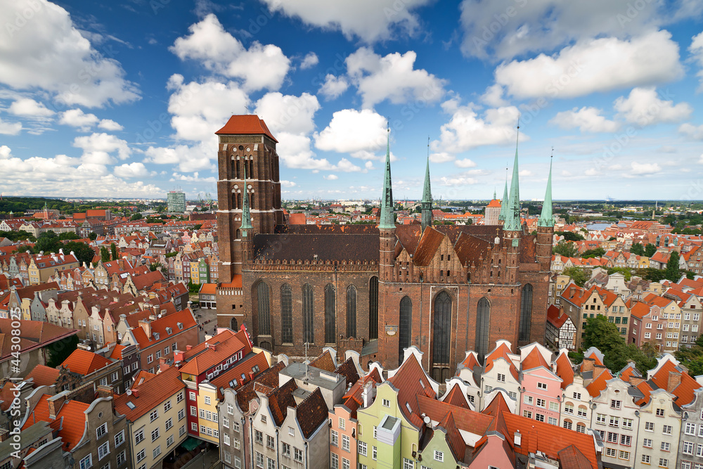 Fototapeta St. Mary's Cathedral in old town of Gdansk, Poland