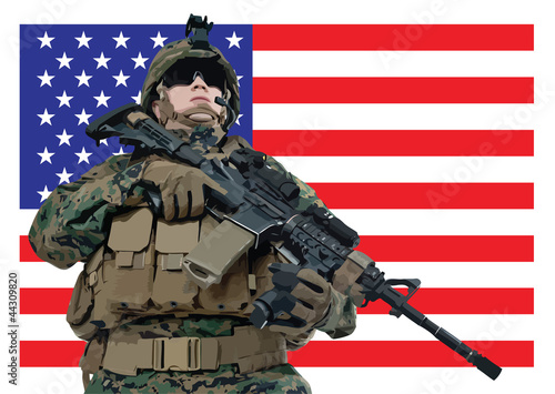 Poster Militaire serving the nation