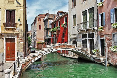 Poster Venice pictorial Venetian streets