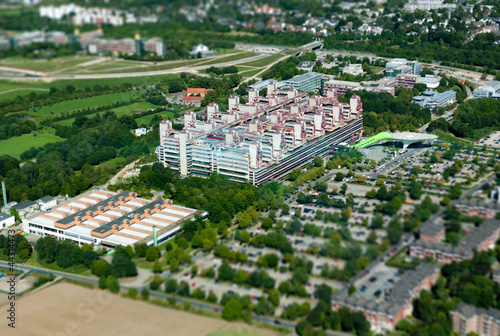 RWTH Aachen Hospital - aerial view Canvas Print