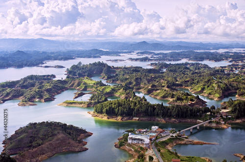Fotografía  Aerial View of Guatape Lake, Colombia
