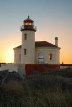 Coquille River Lighthouse At Bullards Beach, Bandon Oregon