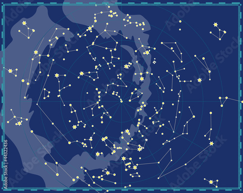 Photo Celestial Map of The Night Sky