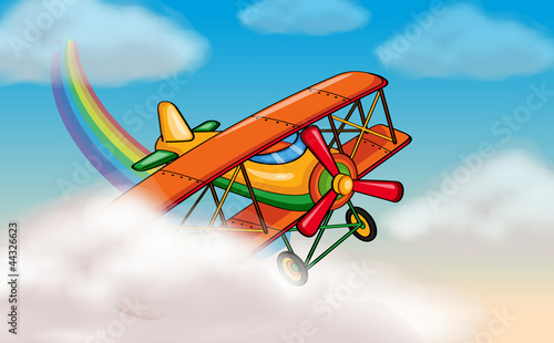 In de dag Regenboog aircraft