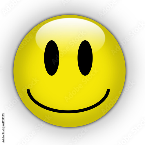 Fototapeta Smile yellow button
