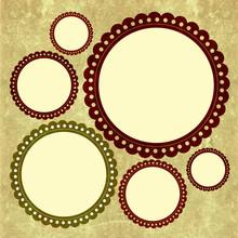 Round Scrapbook Frame