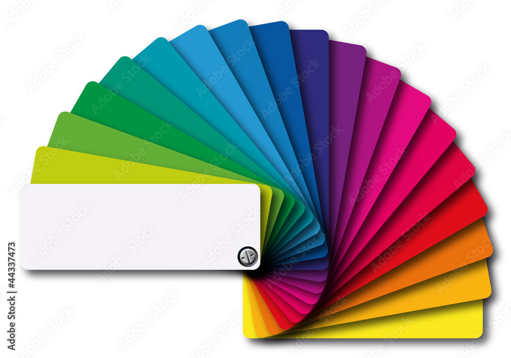 Fototapeta nuancier couleurs
