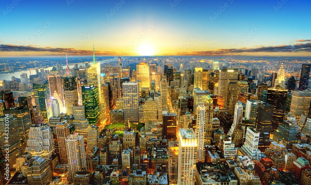 Fototapety, obrazy: Crépuscule sur New York.