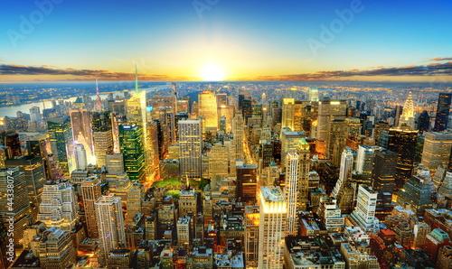 Obraz Zmierzch nad Nowym Jorkiem - fototapety do salonu