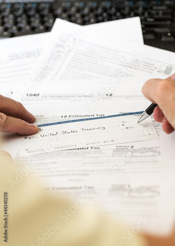 Usa Tax Form 1040 For Year 2012 With Check Buy This Stock Photo