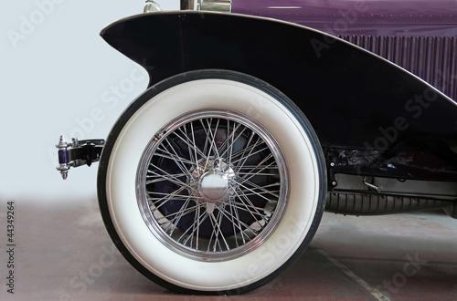 Fotografie, Obraz  Vintage car tire