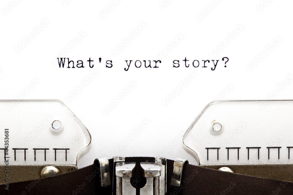 Fototapety, obrazy: Typewriter What is Your Story