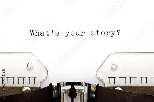 Obraz Typewriter What is Your Story - fototapety do salonu