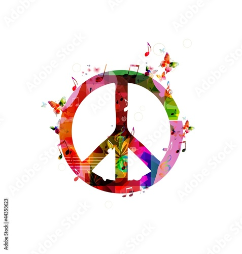 Foto  Colorful peace sign. Vector