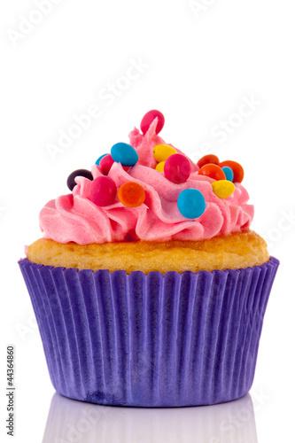 Photo  Colorful cupcake