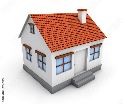 3d Simple House Model Buy This Stock Illustration And