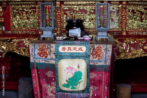 Foto op Aluminium Imagination Tempel auf Zhoushan