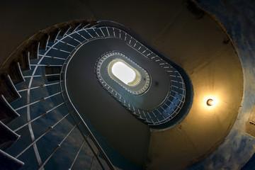FototapetaGrunge spiral staircase