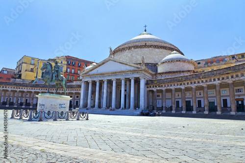 Garden Poster Napels Napoli, Piazza del Plebiscito
