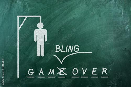 Fotografie, Obraz  Gambling over