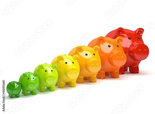 Fotografie, Obraz  energie sparschweine