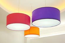 Purple, Red And Orange Round S...