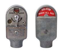 Antique Parking Meter Isolated...