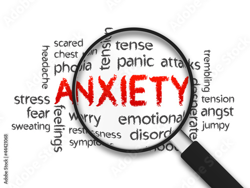 Stampa su Tela Anxiety