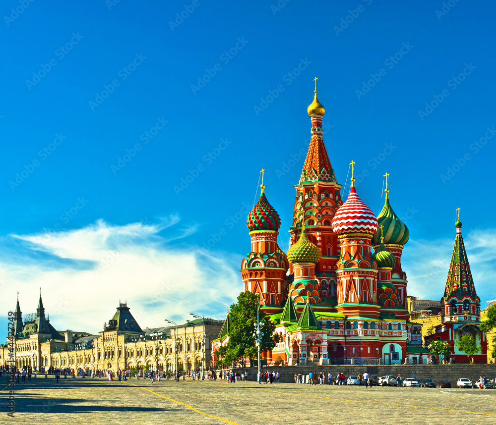 Fototapety, obrazy: St Basils cathedral; Moscow, Russia