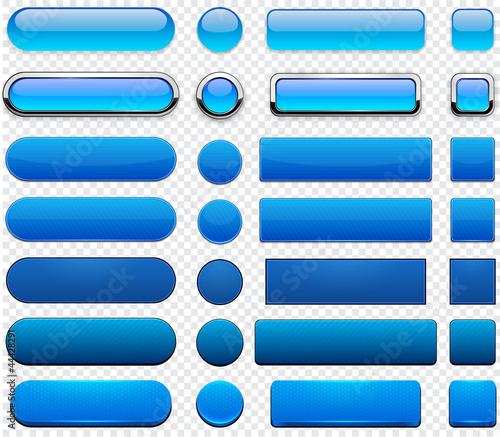 Fotografía  Blue high-detailed modern web buttons.