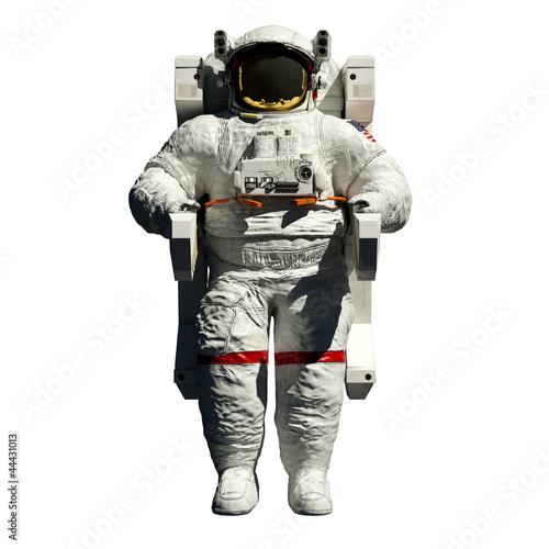 Fotografie, Obraz  spacewalking astronaut - 3d illustration front view on white
