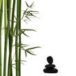 Bambus mit Lavastein