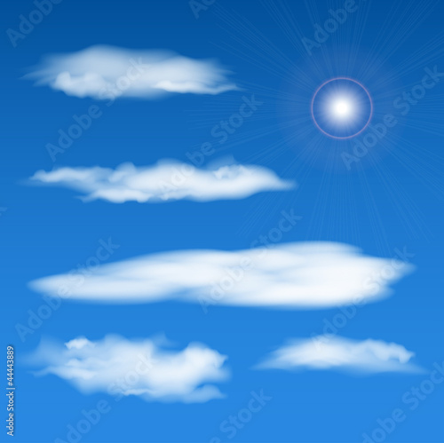 Tuinposter Hemel vector sky elements set. Eps10