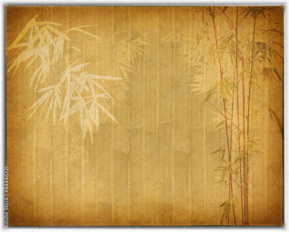 bambus na starym grunge antyka tekstury papieru